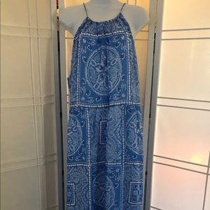 Vineyard Vines size 16 maxi dress sanddollar print